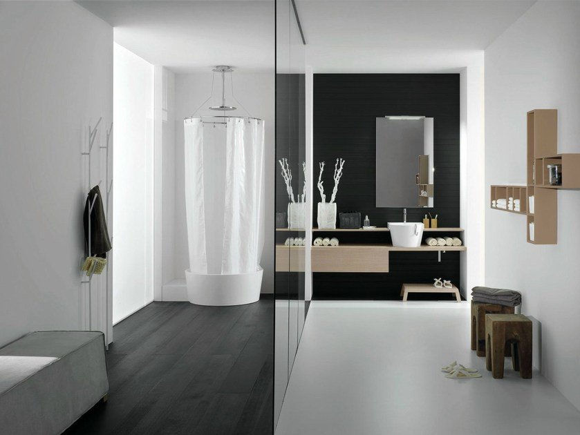 Bathroom furniture set CANESTRO - COMPOSITION C05 by NOVELLO