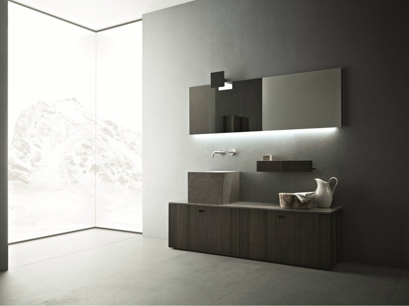 Wooden bathroom furniture set CRAFT - COMPOSITION N01 by NOVELLO