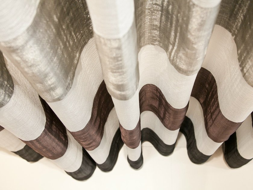 Striped polyester fabric for curtains GALATEA by Equipo DRT