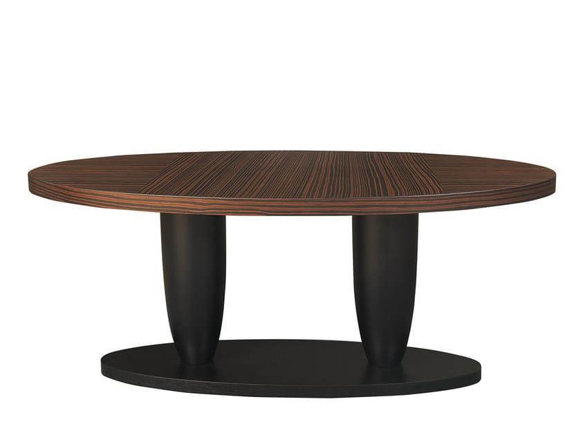 Oval ebony dining table THÉA LOUNGE by Hamilton Conte Paris