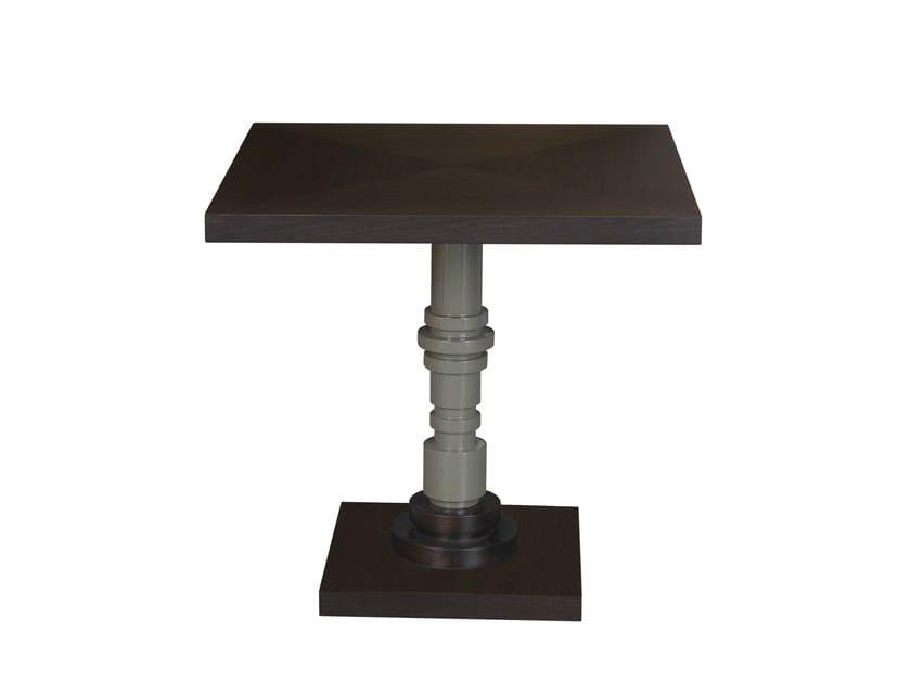 Square oak coffee table TULA   Square coffee table by Hamilton Conte Paris
