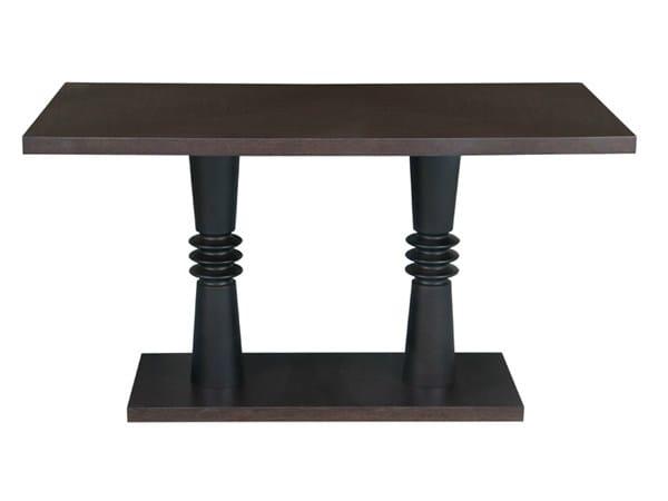 Rectangular wooden table TURNER   Rectangular table by Hamilton Conte Paris