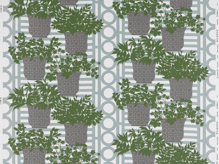 Fabric with floral pattern for curtains PATMOS by Equipo DRT