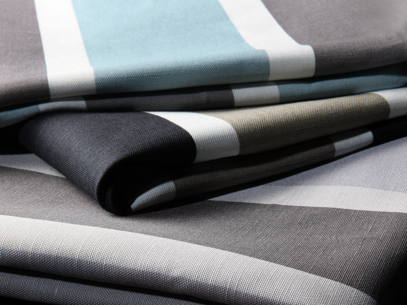 Striped printed fabric ELOS by Equipo DRT