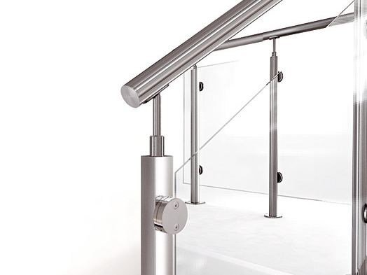 Stainless steel balustrade INOX22 by Fontanot