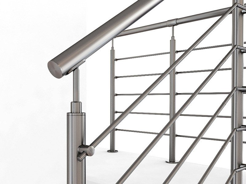 Stainless steel balustrade INOX20 WIRE by Fontanot