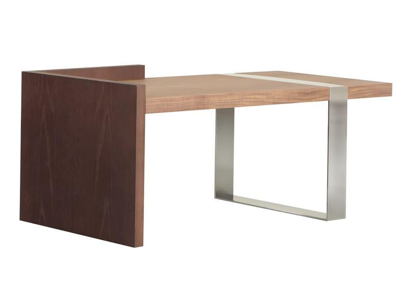 Low wood veneer coffee table for living room BAA by AZEA