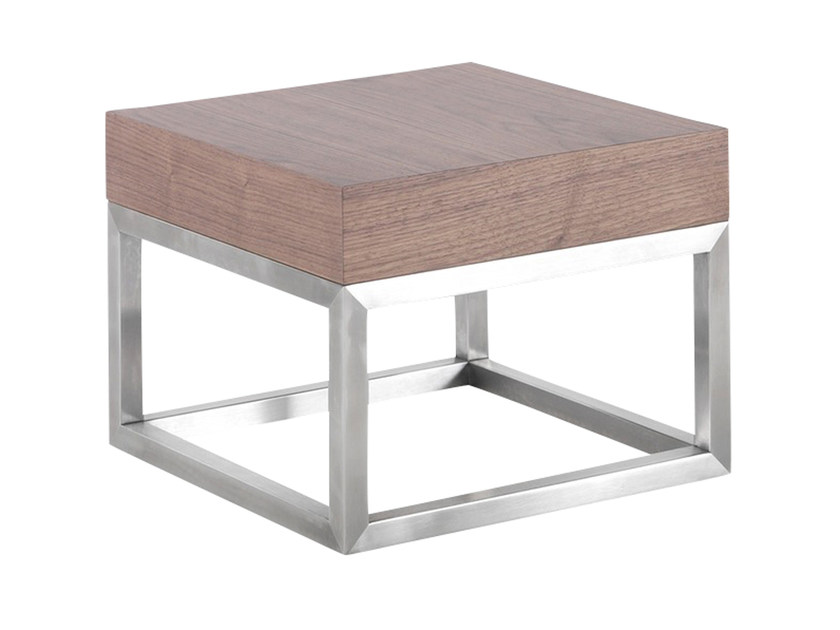 Low wood veneer side table AZON | Coffee table by AZEA