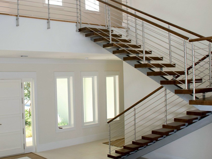 Open staircase with central stringer 200 | Open staircase by Interbau