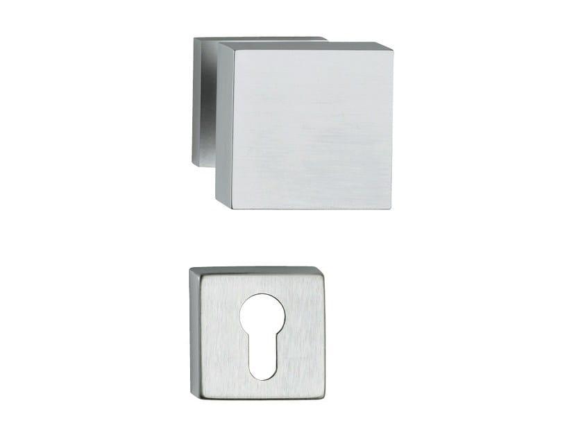 Chromed brass door knob with lock OPEN | Door knob with lock by LINEA CALI'