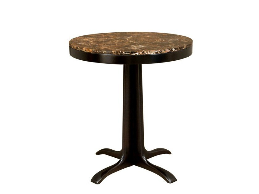 Round coffee table with 4-star base VOLNAY   Round coffee table by Hamilton Conte Paris