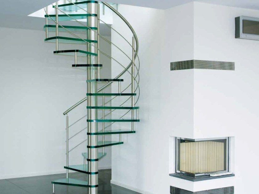 Helical Glass And Steel Spiral Staircase 76 | Spiral Staircase By Interbau