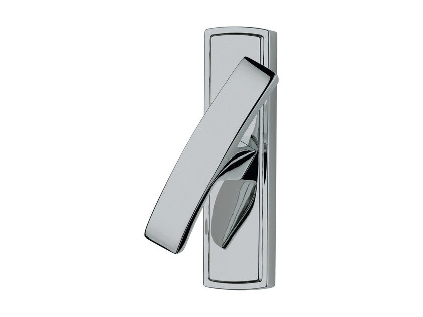 Chromed brass Cremone handle on back plate PROFILO   Cremone handle by LINEA CALI'