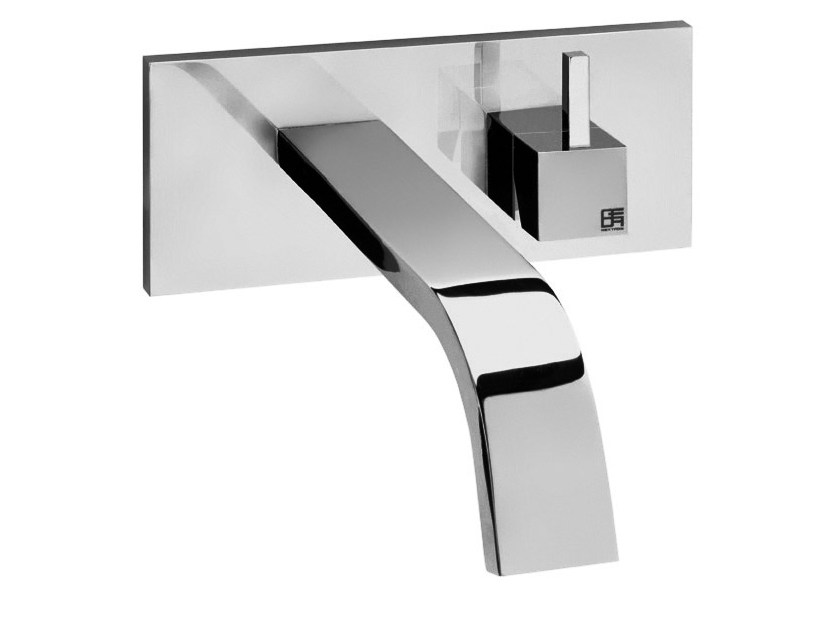 Wall-mounted single handle washbasin mixer HITO QUARANTUNO | Wall-mounted washbasin mixer by GEDA