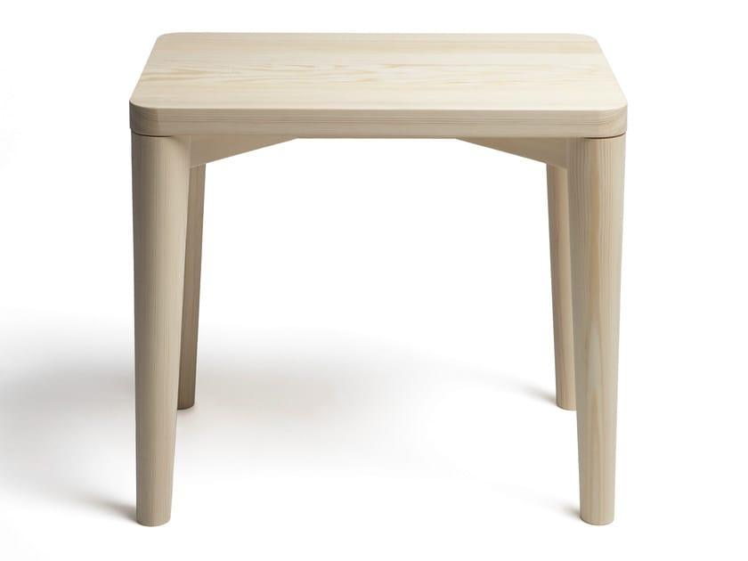 Low wooden stool JANUARY | Stool by Nikari