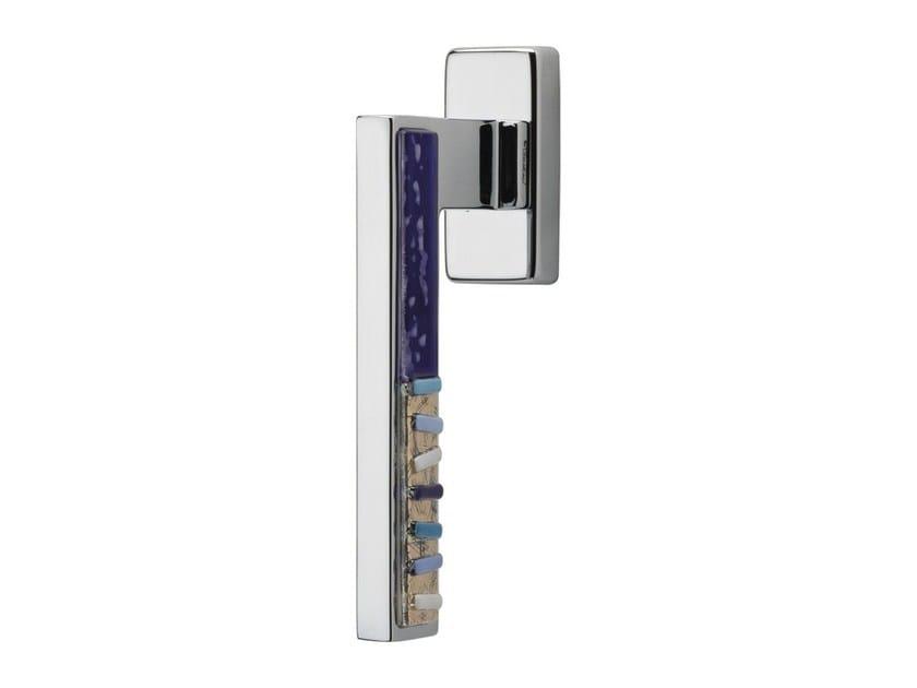 DK chromed brass window handle on rose SINTESI MART | DK window handle by LINEA CALI'
