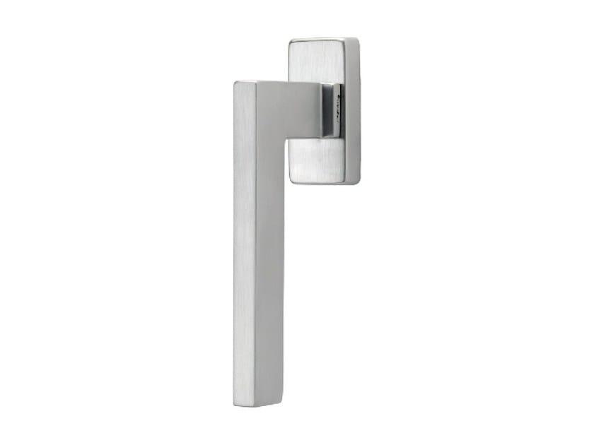 DK chromed brass window handle on rose SINTESI | DK window handle by LINEA CALI'
