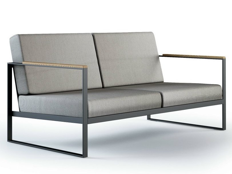 Sled base 2 seater sofa GARDEN EASY   2 seater sofa by Röshults