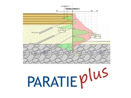 Retaining wall calculation PARATIE PLUS by HARPACEAS