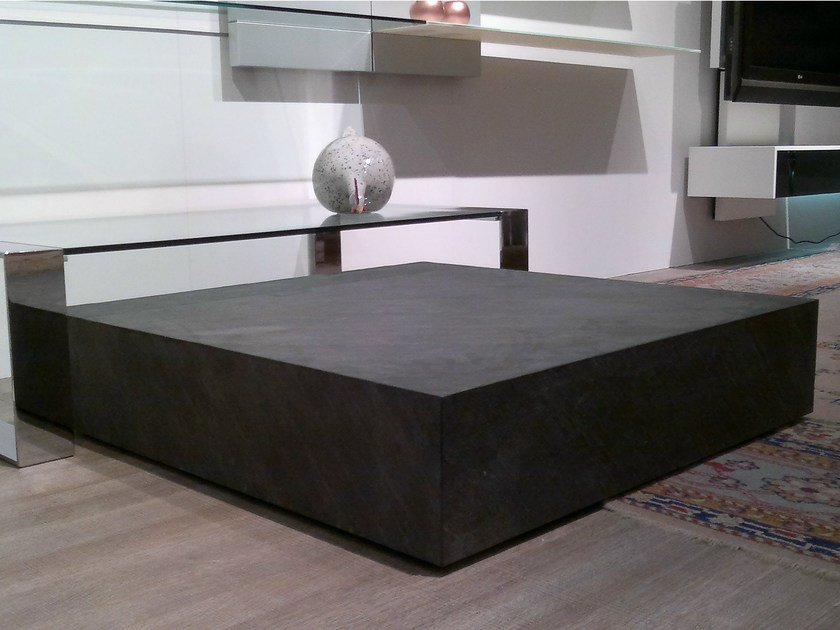 Low slate coffee table KUBIC by F.lli Orsenigo