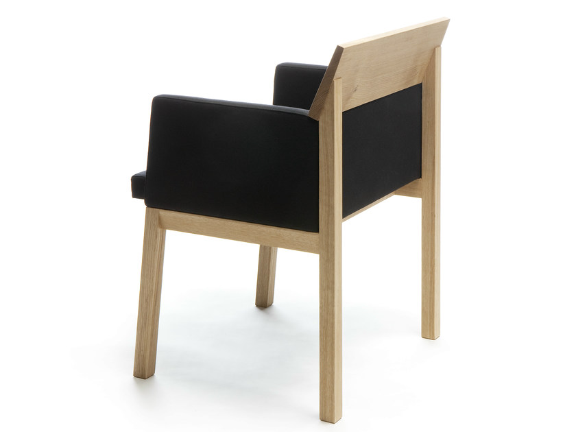 Wooden chair with armrests SEMINAR JRT2 by Nikari