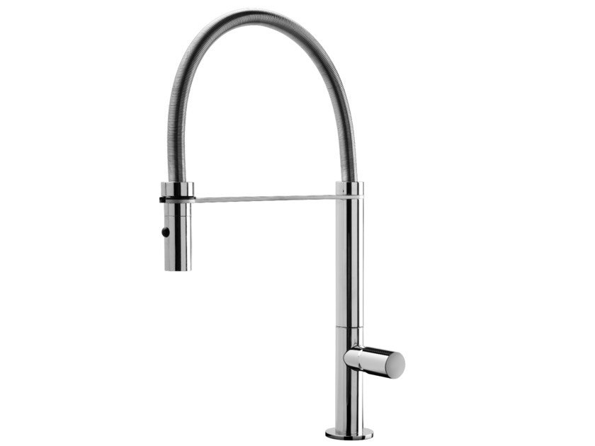 Kitchen mixer tap with pull out spray EMY by GEDA