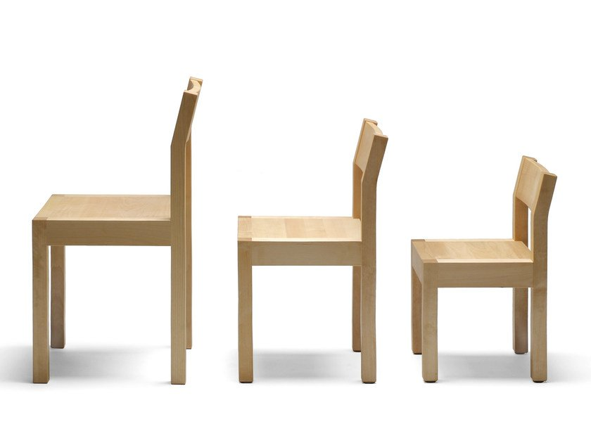 Wooden kids chair SEMINAR KVLT1-2-3 by Nikari