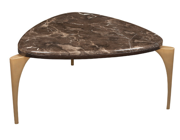 Triangular marble coffee table MANOLO COCKTAIL by Hamilton Conte Paris