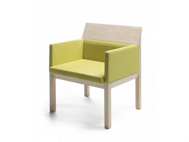 Upholstered easy chair with armrests SEMINAR JRA2 by Nikari
