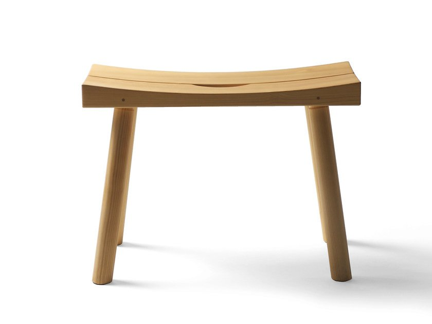 Low alder stool PERIFERIA KVJ3 SAUNA by Nikari