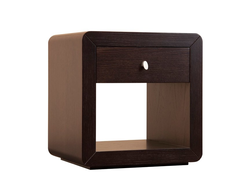 Wood veneer coffee table / bedside table ORICK 1 DRAWER by Hamilton Conte Paris