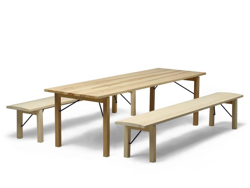 Rectangular wooden table ARKITECTURE TJP3 by Nikari