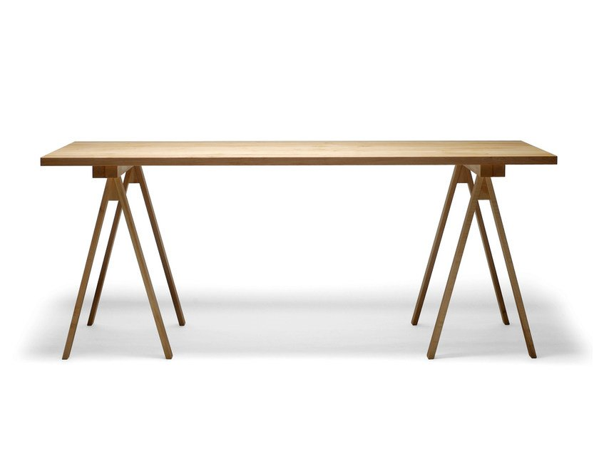 Rectangular wooden table ARKITECTURE PPK1-2-3 by Nikari