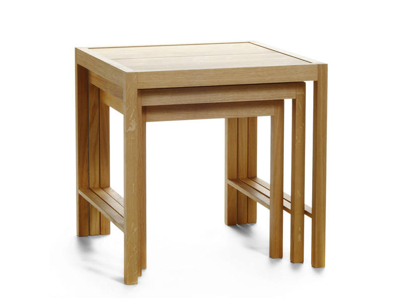 Low stackable square wooden coffee table PERIFERIA SP1-2-3 by Nikari
