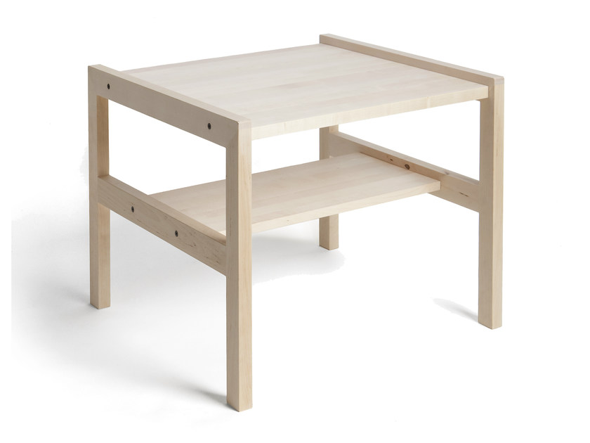 Low rectangular birch coffee table ARKITECTURE YKP1 by Nikari