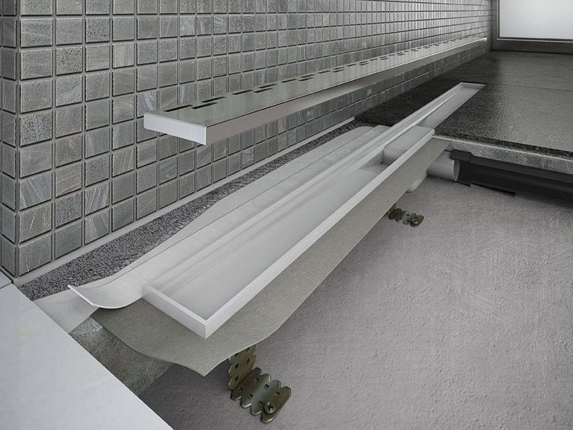 Stainless steel shower channel Stainless Steel Liquid Channel by ETERNO IVICA
