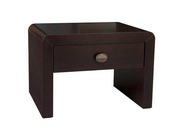 Wood veneer coffee table / bedside table ORICK SIDE by Hamilton Conte Paris