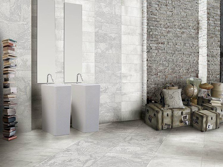 Porcelain stoneware wall/floor tiles with concrete effect CONCRETE AFFRESCO by CERAMICHE BRENNERO