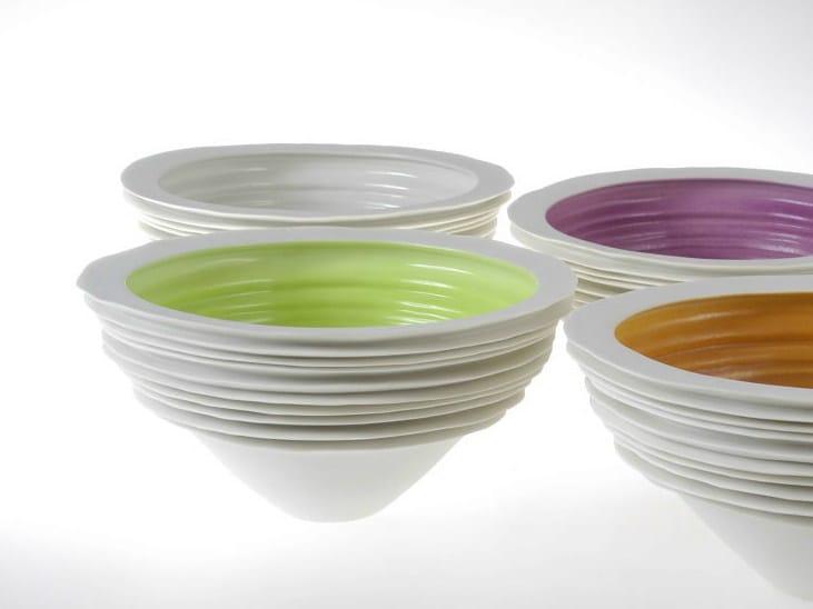Porcelain serving bowl NOVALIS   Serving bowl by Fos Ceramiche