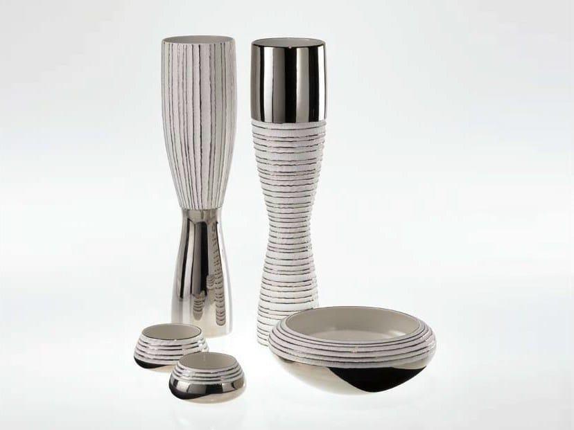 Porcelain vase ANTITHESIS GOLD AND PLATINUM | Vase by Fos Ceramiche