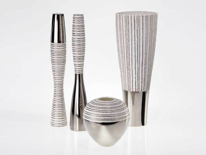 Porcelain vase ANTITHESIS GOLD AND PLATINUM | Vase by Fos Ceramiche