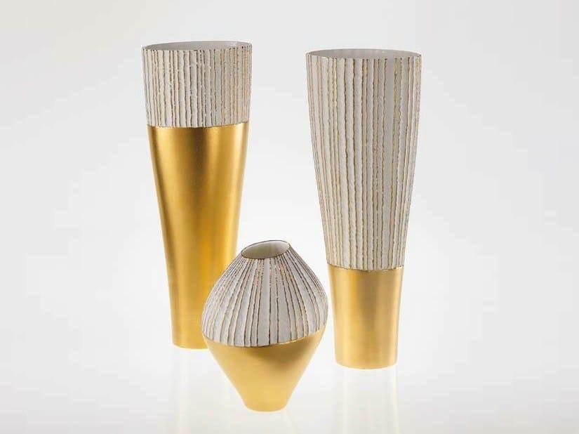 Porcelain vase ANTITHESIS GOLD AND PLATINUM   Vase by Fos Ceramiche