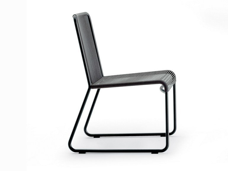 Stainless steel garden chair HARP | Chair by RODA
