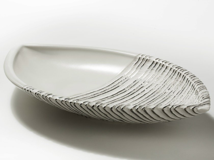 Porcelain centerpiece ANTITHESIS GOLD AND PLATINUM | Centerpiece by Fos Ceramiche