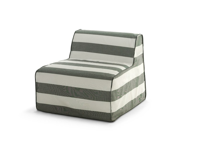 Modular fabric garden armchair with removable cover INOUT 406 by Gervasoni