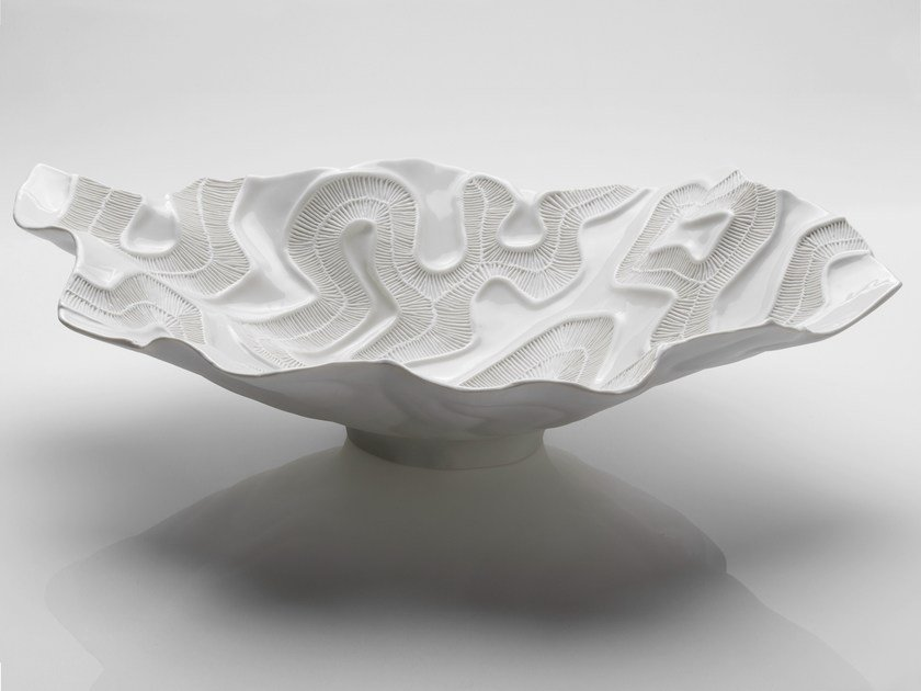 Porcelain centerpiece FOSSILIA   Centerpiece by Fos Ceramiche
