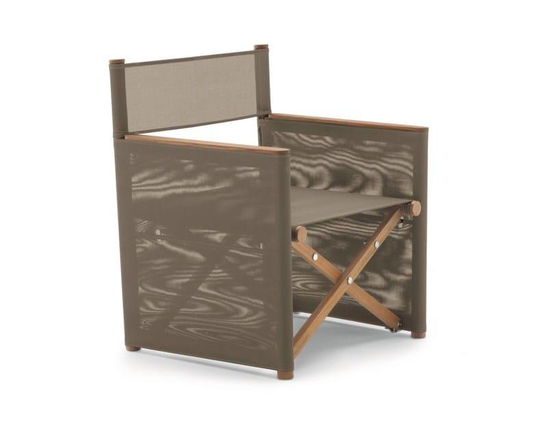 Folding teak garden armchair ORSON | Garden armchair by RODA