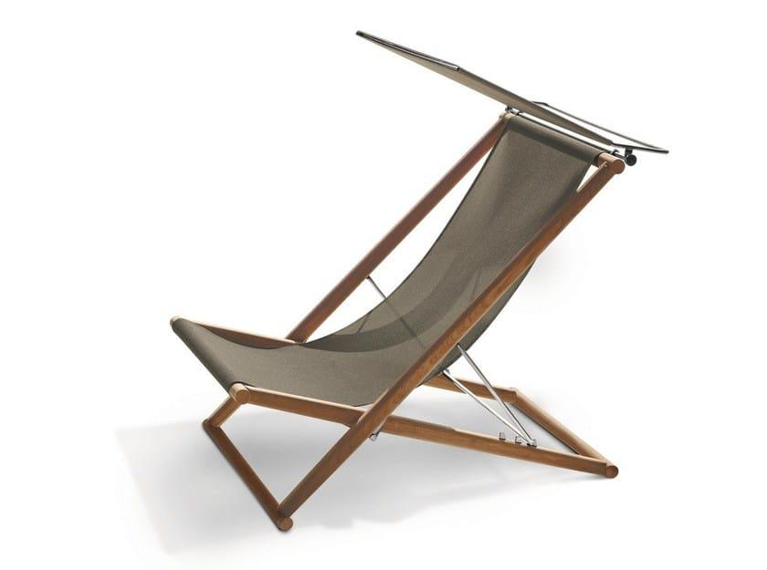 Folding teak deck chair ORSON | Deck chair by RODA