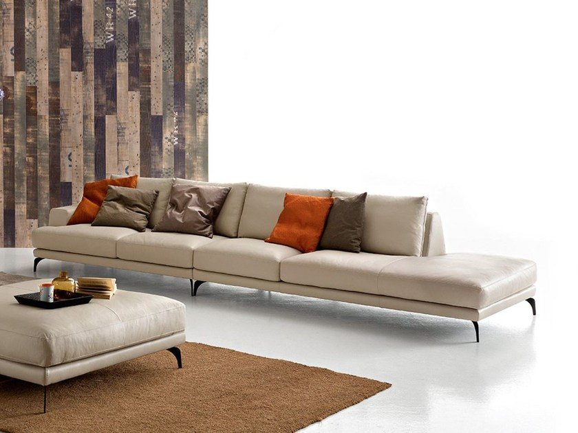 Foster Leather Sectional Sofa By