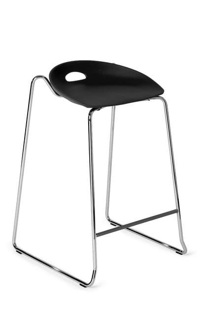 Sled base high stool ANNY 330 D | Stool by Mara